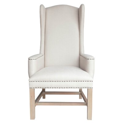 Bennett Wing back Chair Upholstery: Stone Wash