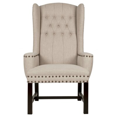 Brook Wingback Chair Upholstery: Birch