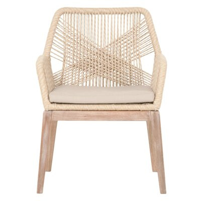 Loom Arm Chair (Set of 2) Upholstery: Sand