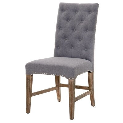Parfondeval  Traditional Upholstered Dining Chair (Set of 2) Upholstery Color: Heather Gray