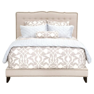 Markes Upholstered Platform Bed Size: King, Color: Oatmeal