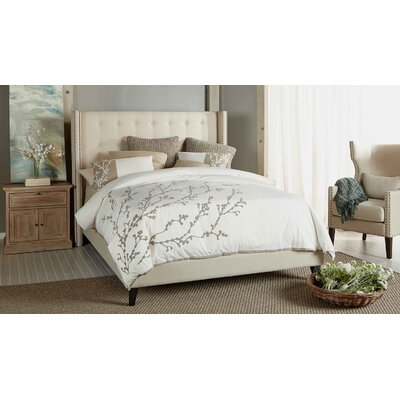Heverlee Upholstered Platform Bed Color: Oatmeal, Size: King