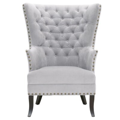 Moise Club Chair Upholstery: Fog Velvet