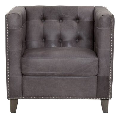 Fonteyne Traditional Club Chair Upholstery: Pewter