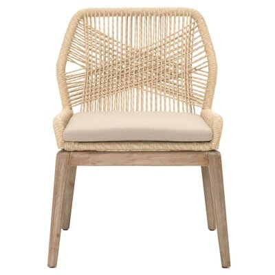 Loom Parsons Chair (Set of 2) Finish: Sand