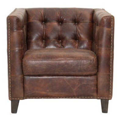 Fonteyne Club Chair Upholstery: Cigar