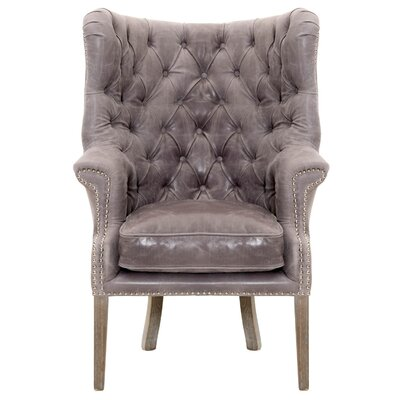 Fonteyne Wing back Chair Upholstery: Pewter