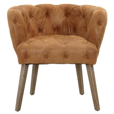 Patina Jasper Genuine Leather Upholstered Dining Chair Upholstery: Chestnut