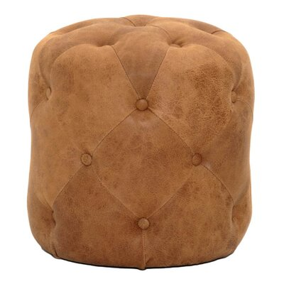 Claude Leather Pouf Upholstery: Chestnut
