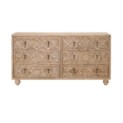 Trellis 6 Drawer Double Dresser