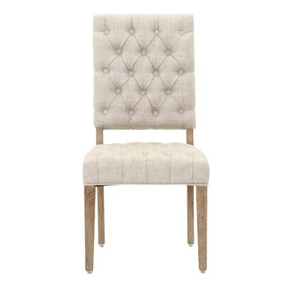 Aida Traditional Side Chair (Set of 2) Upholstery: Bisque