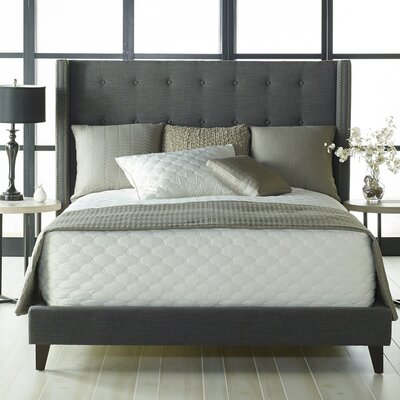 Heverlee Upholstered Platform Bed Color: Sepia, Size: King
