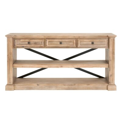 Hudson Console Table Finish: Stone Wash