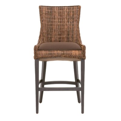 Caryville 30 Bar Stool (Set of 2) Finish: Espresso, Upholstery: Brown