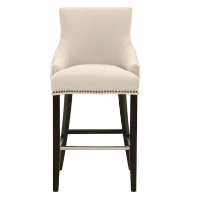 Carnaff 30 Bar Stool Finish: Espresso, Upholstery: White