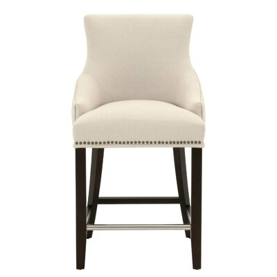 Carnaff 26 Bar Stool Finish: Espresso, Upholstery: Linen