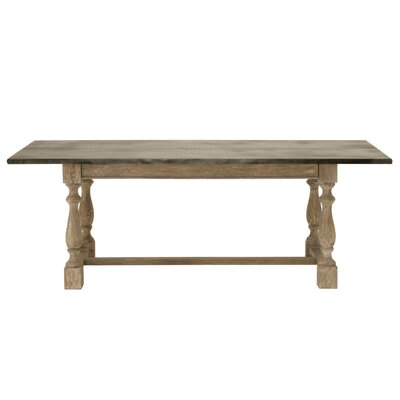 Demers Dining Table with Wood Top