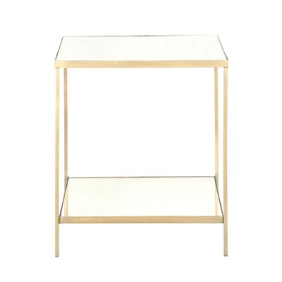 Rylan Square End Table Finish: Brass