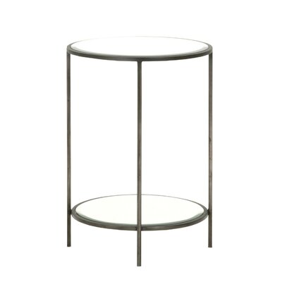 Fiona Round End Table Finish: Vintage Iron