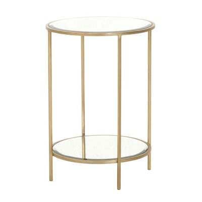 Thorsen Round End Table Color: Brass