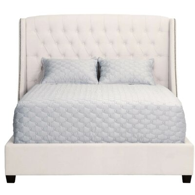 Sloan Upholstered Panel Bed Size: California King