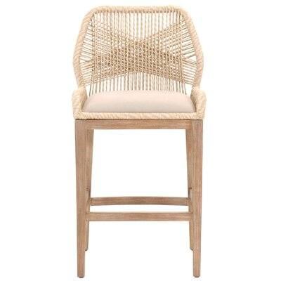 Loom 44.5 Bar Stool Upholstery: Sand
