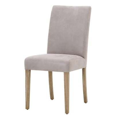 Svenn Genuine Leather Upholstered Dining Chair (Set of 2) Upholstery: Pearl Gray