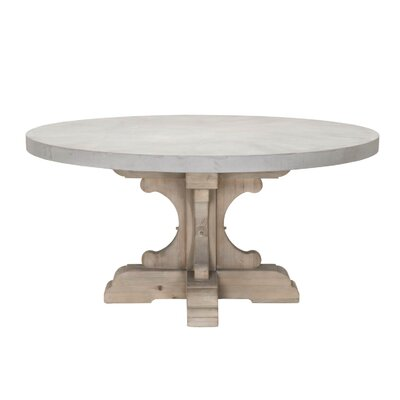Dancy Round Wood Dining Table Base Finish: Smoke Gray, Top Finish: Light Gray