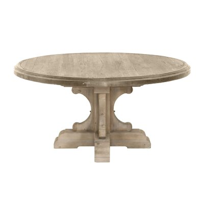 Dancy Round Wood Dining Table Base Finish: Smoke Gray, Top Finish: Smoke Gray