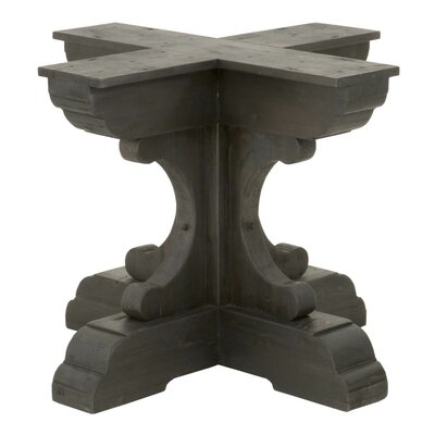 Dancy Round Dining Table Base Finish: Black Wash