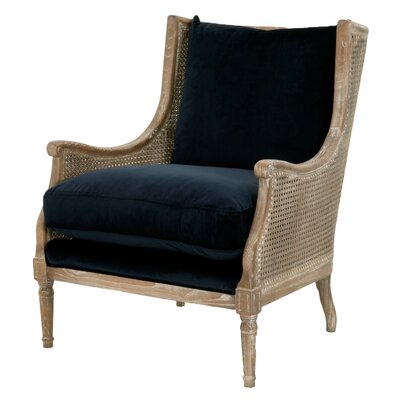 Deville Wingback Chair Upholstery: Navy