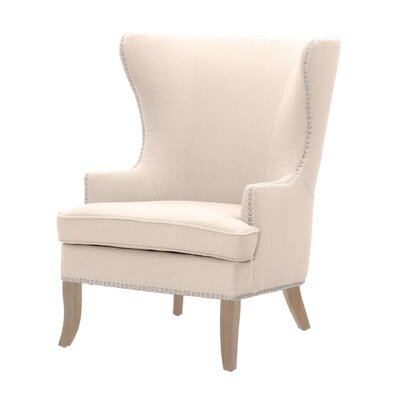 Grant Wingback Chair Upholstery: Light Pink