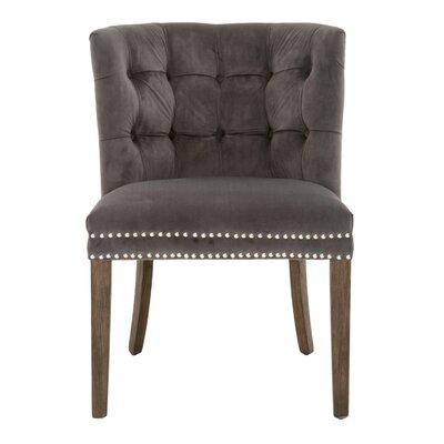 Preetesh Slipper Chair Upholstery: Pewter velvet