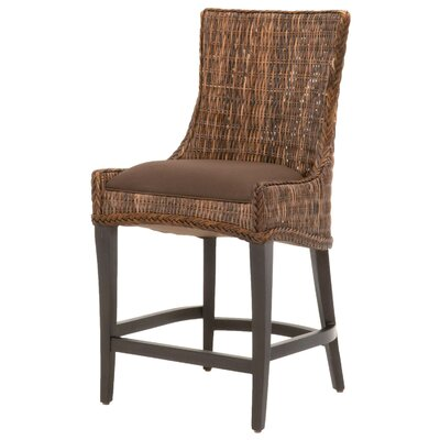 Caryville 26 Bar Stool (Set of 2) Finish: Espresso, Upholstery: Brown
