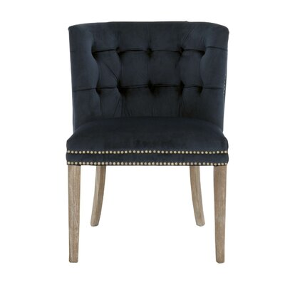Preetesh Slipper Chair Upholstery: Navy velvet