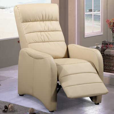 Edgar Ergonomic Manual Recliner Upholstery Color: Latte