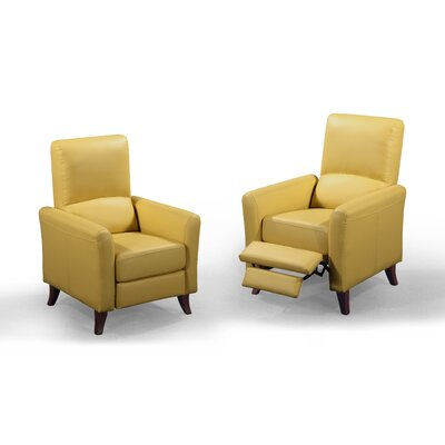 Fredia Club Chair Recliner Upholstery : Mustard