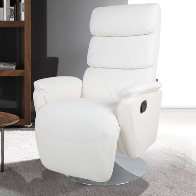 Palermo Manual Swivel Recliner Upholstery: Ivory