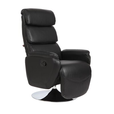 Palermo Manual Swivel Recliner Upholstery: Black