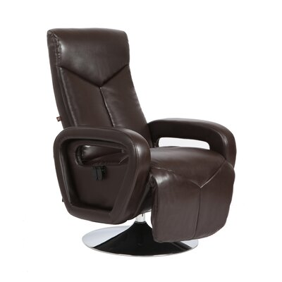Palermo Manual Swivel Recliner Upholstery: Chocolate