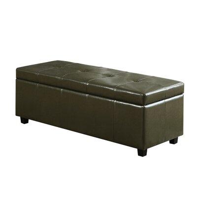 Castleford Storage Ottoman Upholstery: Deep Olive Green