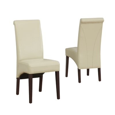 Avalon Parsons Chair Finish: Satin Cream