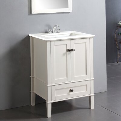 Chelsea 24 Single Bathroom Vanity Base Finish: White