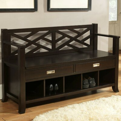 Kilbourne Wood Storage Entryway Bench