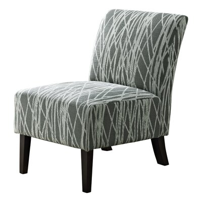 Woodford Slipper Chair Upholstery: Gray / White
