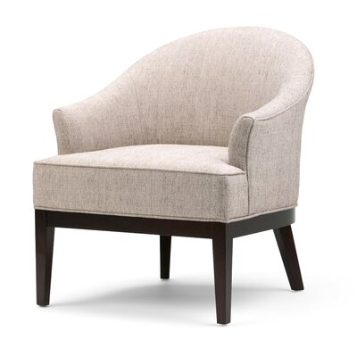 Louise Tub Barrel Chair Upholstery: Taupe