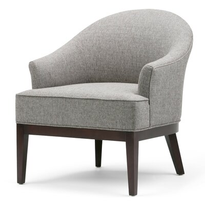 Louise Tub Barrel Chair Upholstery: Warm Slate Gray