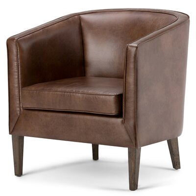 Mitchum Bonded Leather Barrel Chair