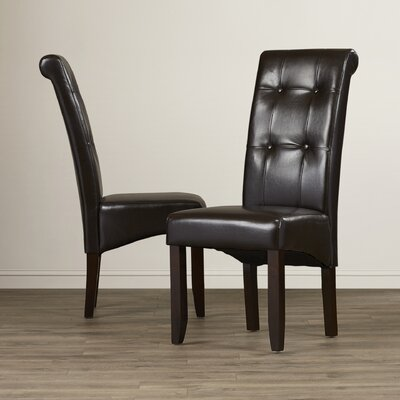 Cosmopolitan Upholstered Dining Chair Upholstery Color: Midnight Black