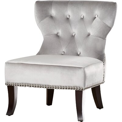 Kitchener Slipper Chair Upholstery: Grey